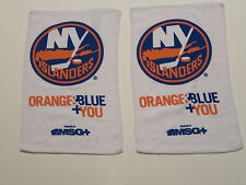 TWO (2) WHITE -  NY Islanders Rally Towels = Tavares, Okposo, Nabokov, Martin