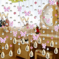Glass crystal beads curtain window door passage wedding backdrop 4 Colours For U