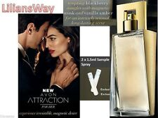 2 x Avon Attraction For Her EDP Spray Sample 1.5ml Each~Long Lasting Scent