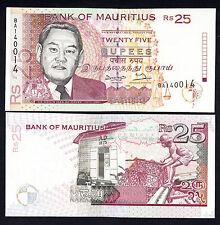 Mauritius 25 Rupees 1998  P. 42 GEM  UNC Note Error Withdrawn