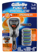 Gillette Fusion Proglide Power Flexball 1 Razor + 6 Cartridges BRAND NEW SEALED