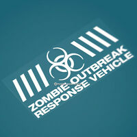 Large ZOMBIE OUTBREAK VEHICLE Funny Car/Window JDM DUB EURO Vinyl Decal Sticker