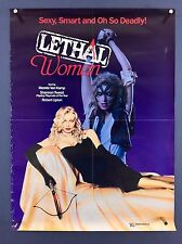 LETHAL WOMAN (VeryGood) VIDEO STORE Movie Poster 1988 One Sheet HORROR HALLOWEEN