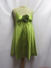 Vintage Dress 60s Micro Mini Cocktail Satin Party MOD Deep Neckline Baby Doll XS