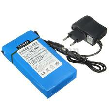 DC 12V 2A 9800mAh Blue Rechargeable Portable Li-ion Battery Charge Power+ Plug