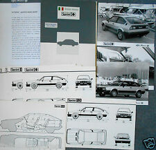 Alfa Romeo Sprint Cloverleaf Press Pack Photograph x 3 1983 Italian Language