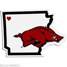 NCAA Arkansas Razorbacks Home State Decal Auto Car Window Vinyl Sticker