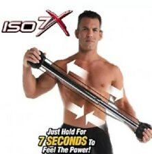 ISO 7X Muscle Body Building Workout Bar With Power Ring Isometric Home Gym