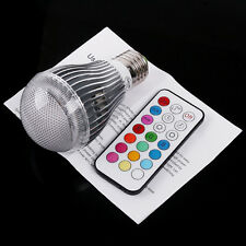 E27 9W Remote Control Color Changing LED Light Bulb RGB Color Lamp 100 - 240V