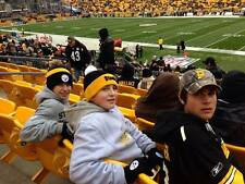 2 lower level sideline PLAYOFF tickets Pittsburgh Steelers vs Miami Dolphins 1/8