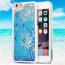 Glitter Stars Dynamic Liquid Quicksand Hard Phone Case Cover for iPhone 6 6s