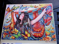 """500 Piece Gloria West Art Puzzle """"Butterfly Blanket""""  New18""""x 24"""""""