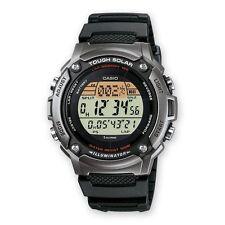 Casio W-S200H-1A Tough Solar Digital Alarm Black Resin Strap Sport Watch