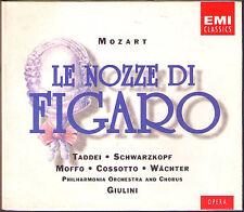 MOZART Le Nozze di Figaro SCHWARZKOPF TADDEI WÄCHTER COSSOTTO MOFFO GIULINI 2CD