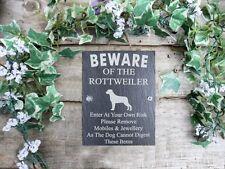 Umoristico diffidare degli Rottweiler Cane Slate porta, cancello, TARGA, firmare