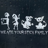 Funny Zombie Family Cat And Dog Car Decal Vinyl Sticker For Window Bumper Panel