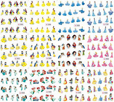 12 Sheets Nail Manicure Tips Water Transfer Decals Stickers Princess 1689-1700