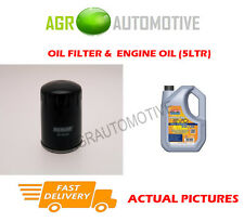 PETROL OIL FILTER + LL 5W30 ENGINE OIL FOR CITROEN C3 1.2 82 BHP 2012-