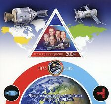 Djibouti 2015 MNH Apollo Soyuz Space Mission 40th Anniversary 1v S/S Stamps