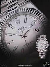 PUBLICITÉ PAPIER MONTRE ROLEX OYSTER PERPETUAL DAY-DATE SUPERLATIVE CHRONOMETER