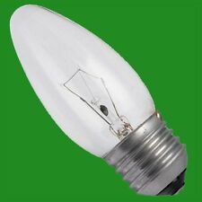 12x 25W Incandescent Clear Candle Light Bulbs ES E27