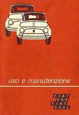 CD LIBRETTO USO E MANUTENZIONE FIAT 500 L Tipo 110 F + VARIANTE 126.A5 1972 - 3