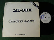 "MI-SEX : Computer games 12"" MAXI 1979 French PROMO CLUB & JUKE-BOX CBS SDC 28"