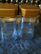 2 x Glass Jars with lids = idea for weddings tables or storage for making Jam