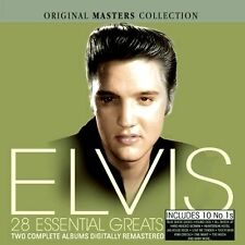 ELVIS PRESLEY 28 ESSENTIAL GREATS NEW + SEALED 2 CD INCLUDES 10 NUMBER 1# HITS