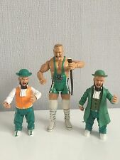 WWE Wrestling Figures Finlay With Shillelagh  & Hornswoggle X2