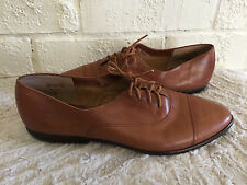 VTG 9West ninewest KIMMIE Lace Up Oxfords Brown Leather Shoes 10