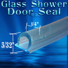 "5/32"" Tall DS108 Frameless Glass Shower Door Seal, Wipe, Sweep - 98"" Long"
