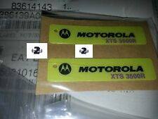 Motorola XTS3500  R radio Housing Nameplate Yellow New 3M Sticker (vhf uhf 800)