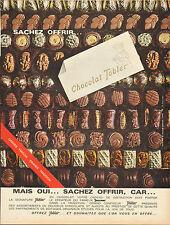 Publicité 1964  Chocolat Tobler  au lait surfin fourré crème au RHUM Toblerone