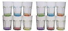 Caipirinha Caipi Cocktail Gläser 320 ml mit farbigem Boden 12 Stück Set