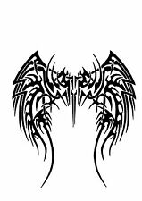 High Detail Tribal Wings Airbrush Stencil - Free UK Postage