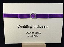 Luxury Personalised Wedding Invitation SAMPLE with Ribbbon & Embellishment