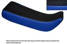 Black & R Azul personalizado se adapta a Honda Xr 100 R 85-97 Doble Cuero Funda De Asiento