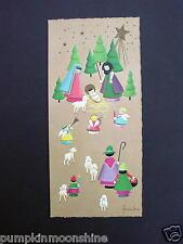 #H506- Unused German Xmas Greeting Card Artist Frankie Unique Nativity Scene
