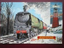 POSTCARD SR WEST COUNTRY CLASS LOCO NO 34028 'EDDYSTONE'