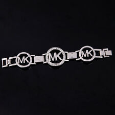 Fashion Jewelry Women Men Crystal Diamond Chain M @ K Letter Bangle Bracelet