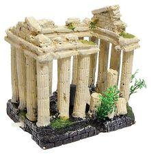 Bubbling Ancient Ruin Aquarium Ornament Air Operated Roman Columns
