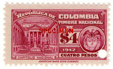 (I.B) Colombia Revenue : State Duty $4 (specimen)