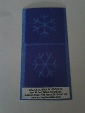 2 x Snowflake face paint stencils  reusable many times  Frozen