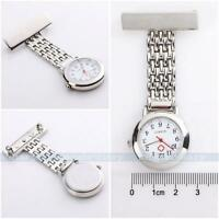 New Stainless Steel Nurse Doctor Watch Brooch Tunic Fob Watches Quartz