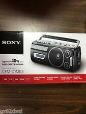 NEW Portable Sony Boombox Radio Cassette Recorder/Stereo