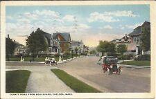 White Border Postcard, Massachusetts, Chelsea, County Road From Boulevard, 1923
