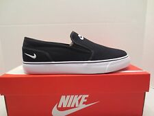 NIKE TOKI SLIP ON CANVAS 724770 010 sneaker shoe womens size 8.5 Black White