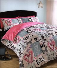 TAKE ME TO PARIS EIFFEL TOWER QUEEN QUILT COVER SET NEW