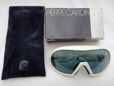 VINTAGE PIERRE CARDIN WHITE SKI MASK HAUTE COUTURE SPORTS FRANCE SUNGLASSES